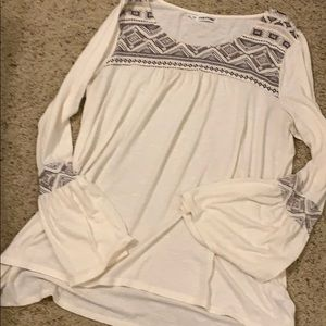 Ivory Tunic Bell Sleeves Size 2X